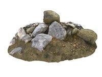 forest ground rock 16k 3D model