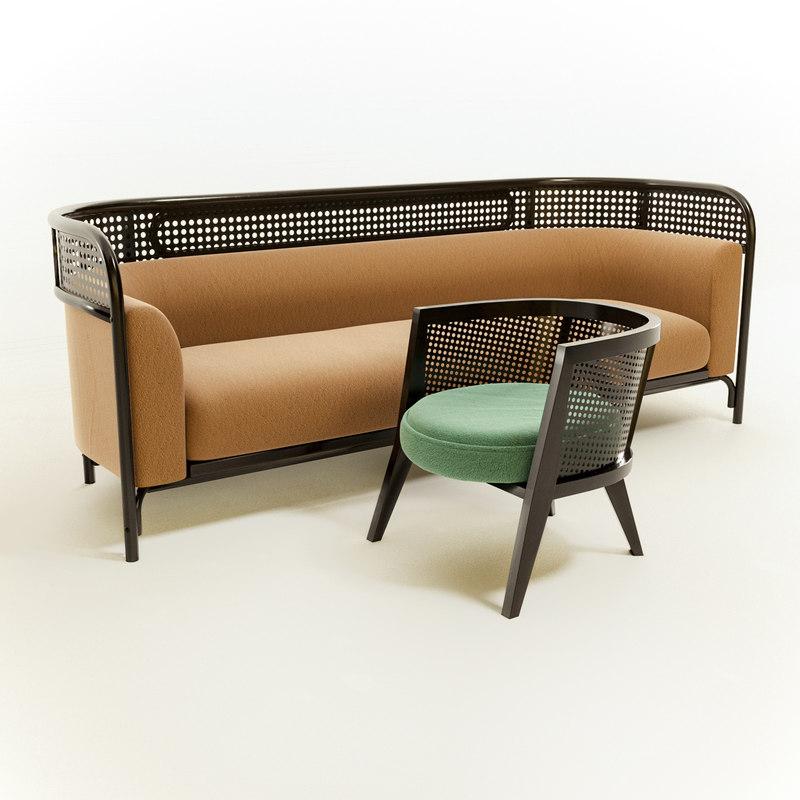 3D soft sofa modern chair model