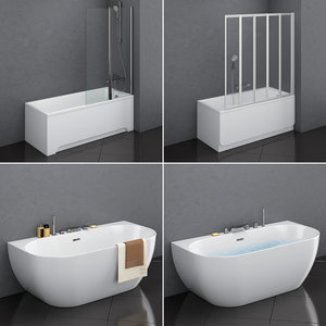 set baths ravak 17 3D model