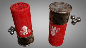 caliber 12 shotgun shell 3D
