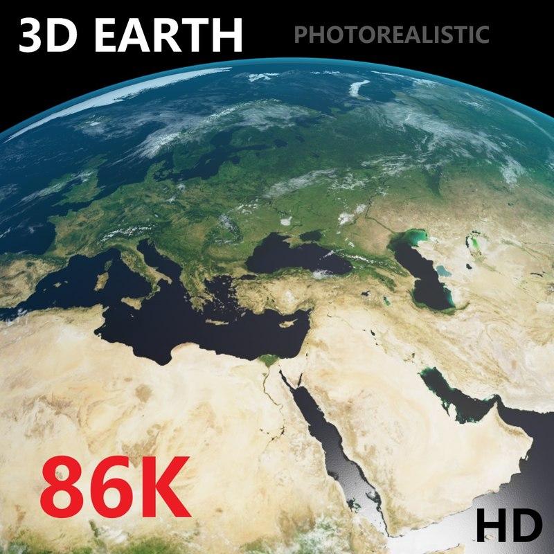 3D model earth - photoreal 86k