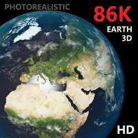 earth - photoreal 86k 3D model