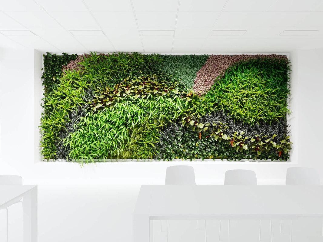 logo background greenwall 3D model