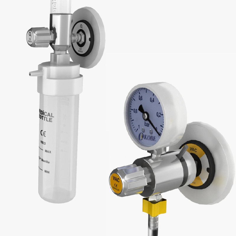 oxygen vac flowmeter 3D model