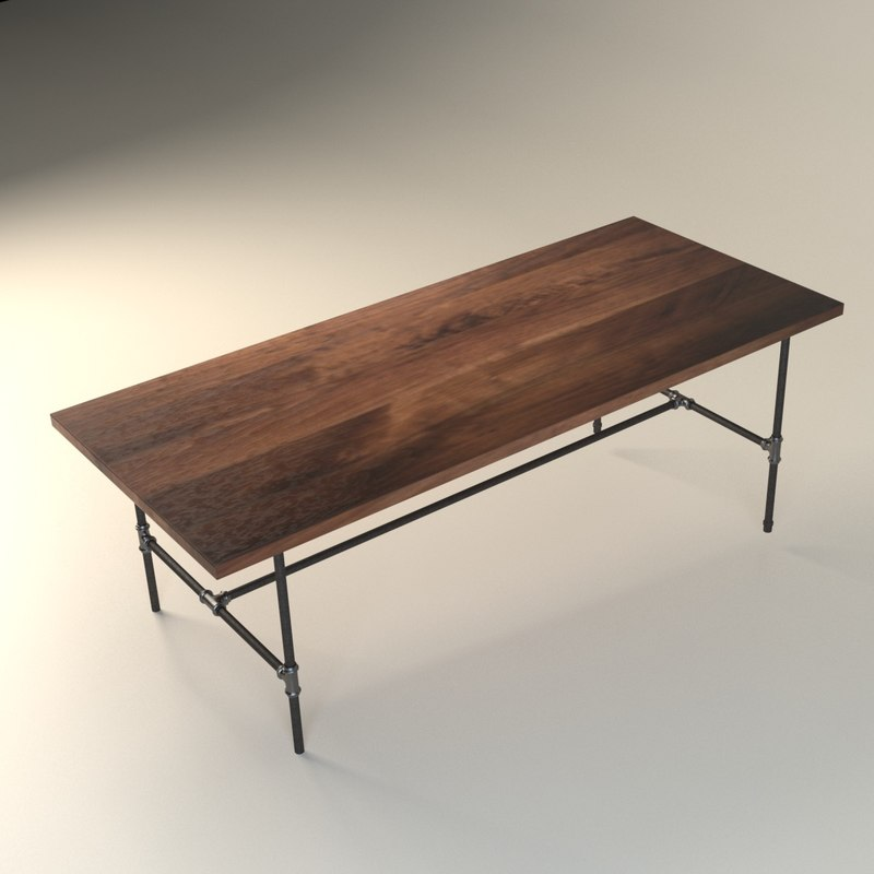 3D urban wood goods dining table