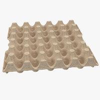30 cells eggs cardboard 3D model
