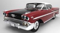 3D chevrolet impala 1958