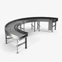 Bend Roller Conveyor Motorised 3D Model
