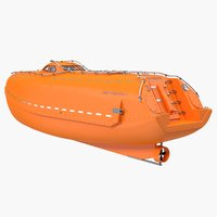 lifeboat boat life 3D model