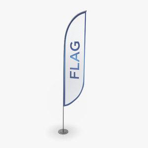 swooper flag 3D model