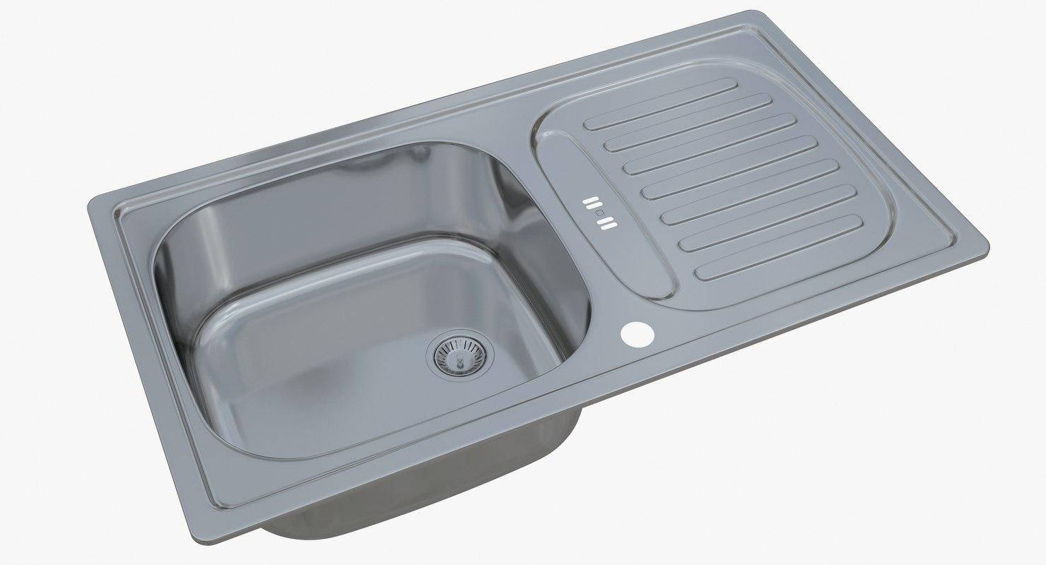 3D sink blanco flex mini - TurboSquid 1329053