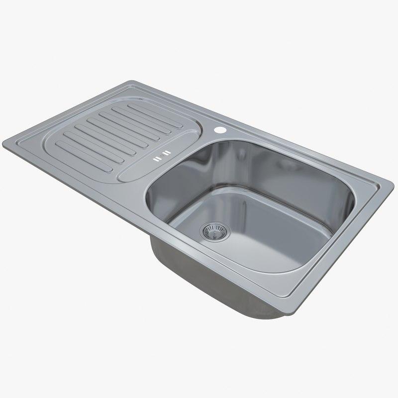 3D sink blanco flex mini