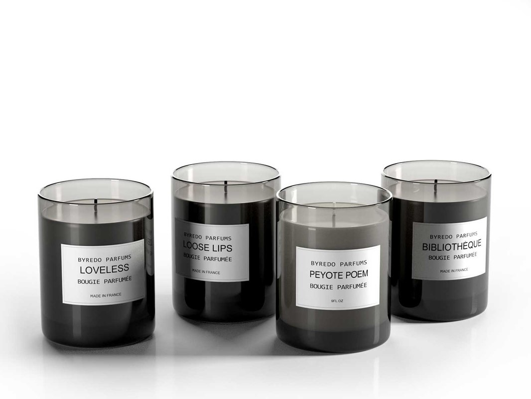 3D candle perfumes set design