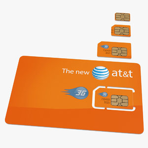 3D att sim card different model