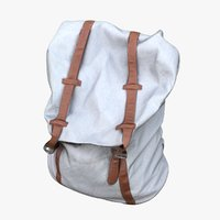3D model woman backpack
