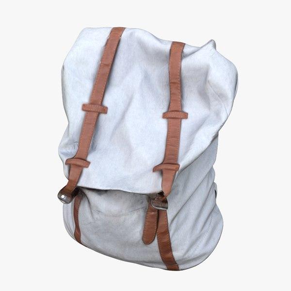3D model woman backpack