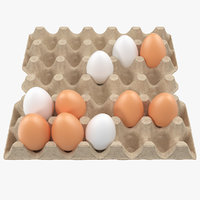 Carton 30 Cells Cardboard with Eggs