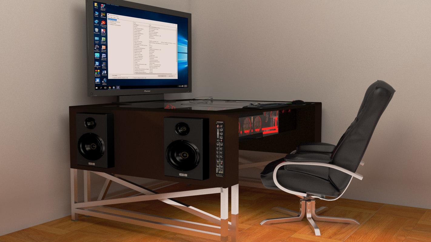 3D mod computer case desk