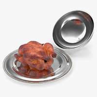cloche cook roasted turkey 3D
