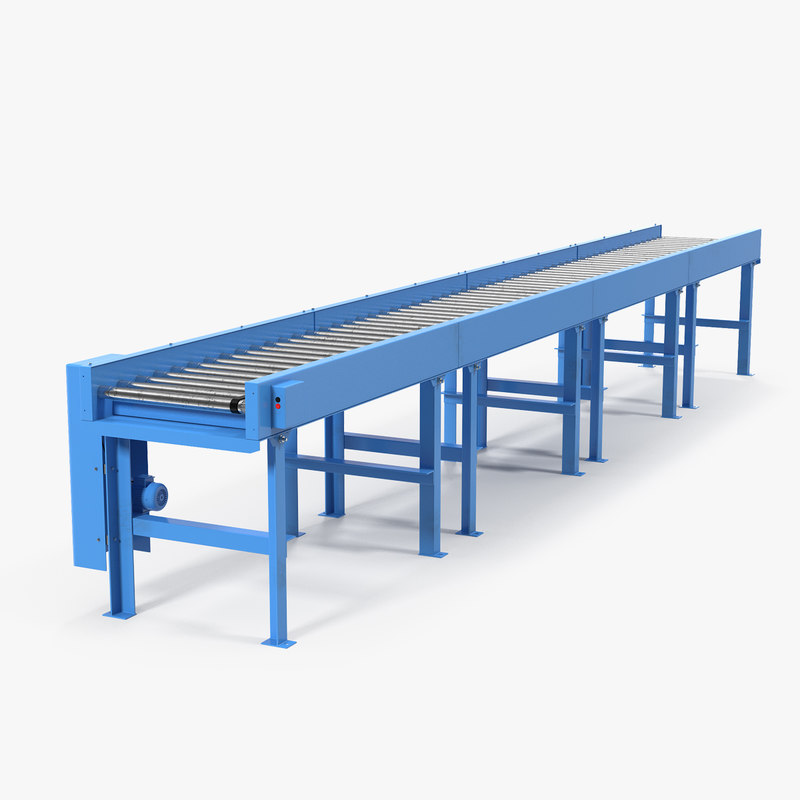 3D conveyor belt roller blue