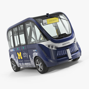 3D driverless bus navya arma model