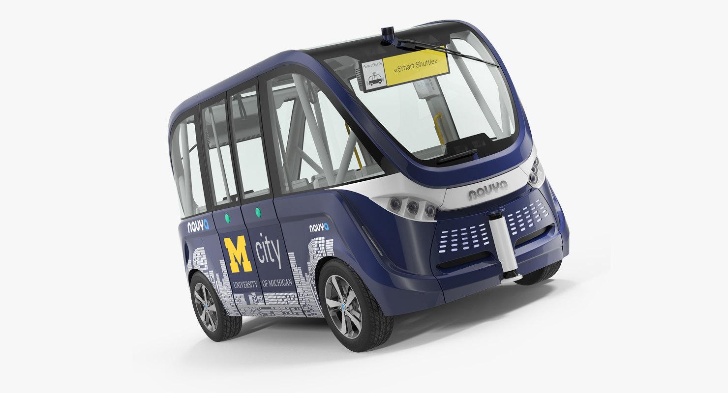 3D driverless bus navya arma model