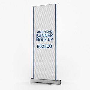 3D roll banner