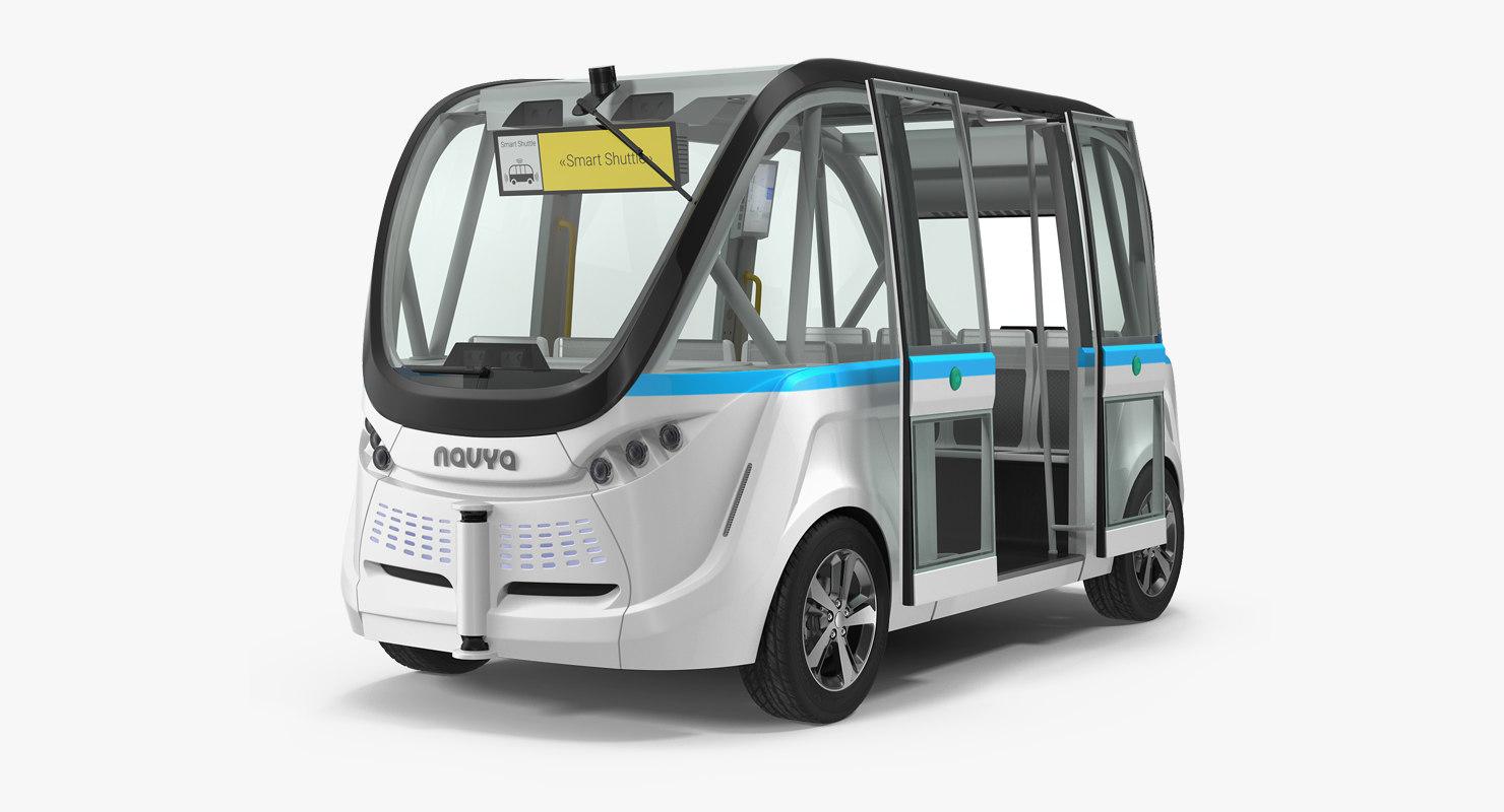 3D driverless minibus electric generic