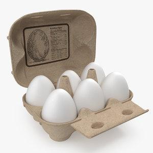 3D eggs package model