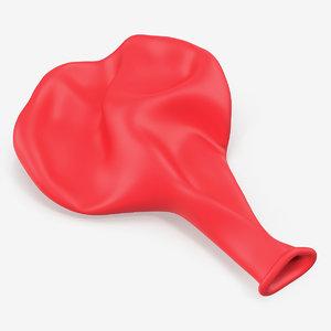 flat balloon 3D model