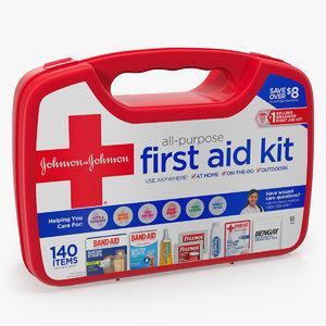 3D aid kit bag model