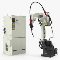 Welding Robot Panasonic TM1400 with Power Supply 3D Model