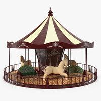 vintage carousel 3D model