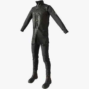 spaceship crew suit 3D