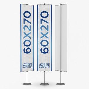 banner advertising 3D model
