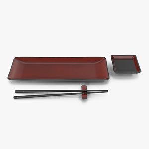 sushi set design 3D model