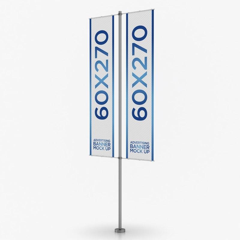 3D banner advertising model