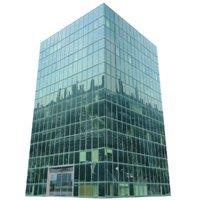 lov poly glass building