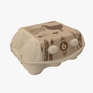 egg package closed 3D model