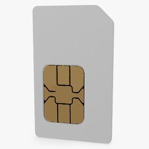 sim card 3D
