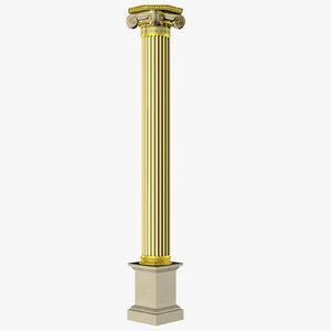 3D ancient greek ionic model