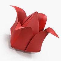 origami paper flower model