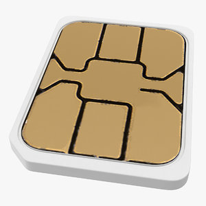 nano sim card 3D