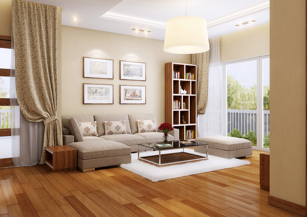 apartment-livingroom celling-light 3D