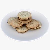 chocolate cookies 3D model