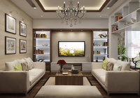 apartment-livingroom celling-light 3D model