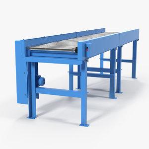 3D model motorised roller conveyor belt