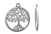 3D model jewelry tree pendants yggdrasil