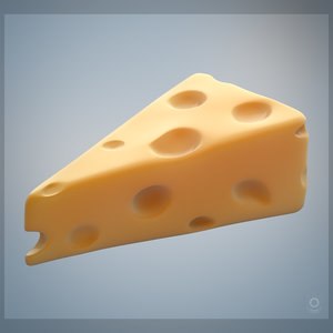 cheese piece slice 3D model
