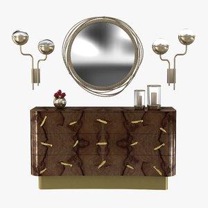 brabbu kayan mirror wall 3D model